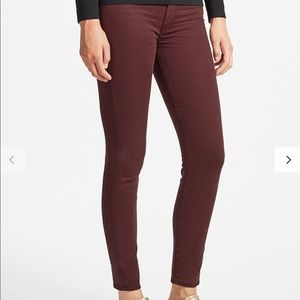 Seven7 High Rise Skinny Maroon Jeans / Pants